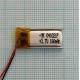 Аккумулятор (АКБ) универсальный - 10x21мм - 3.7V - 150mAh