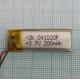 Аккумулятор (АКБ) универсальный - 10x30мм - 3.7V - 180-200mAh