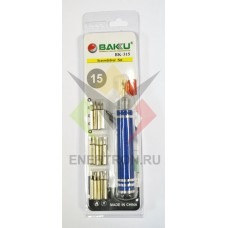 Набор отвёрток BAKU BK-315 (15 насадок, складываются в ручку)