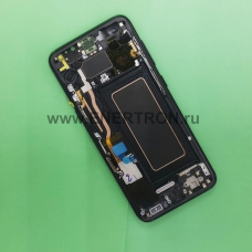 Дисплей Samsung G950 Galaxy S8 + тачскрин (сенсорное стекло) - черный экран (BLACK) (GH97-20457A) - Оригинал
